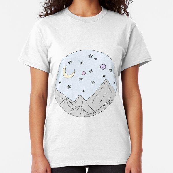 sky mountain scene Classic T-Shirt