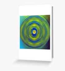 Vivid Green and Blue Swirl Greeting Card