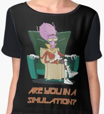 Rick and Morty – Are You in a Simulation? Chiffon Top