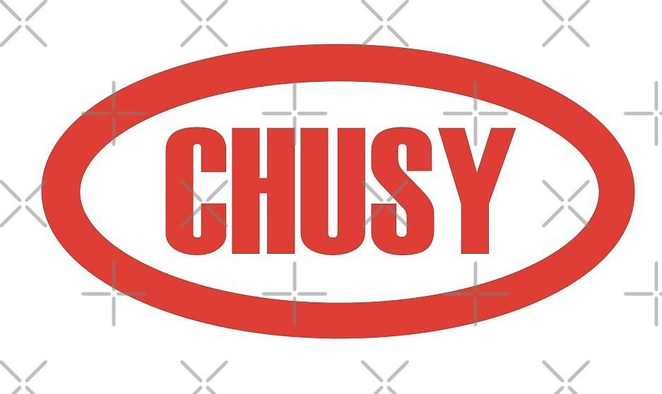 CHUSY Logo - White Background by broadwaybound