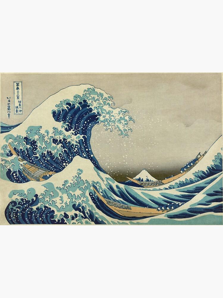 The Classic Japanese Great Wave off Kanagawa by Hokusai by podartist