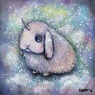 Unicorn Fuzz Bun by Brett Manning