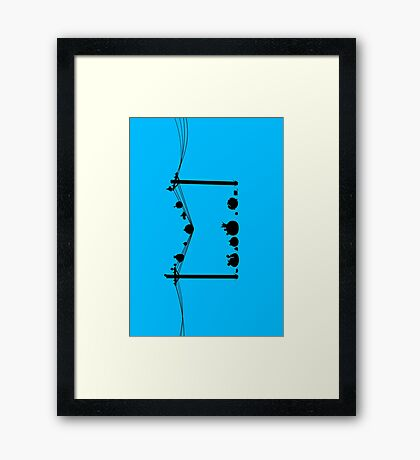 Angry Birds on a wire Framed Print