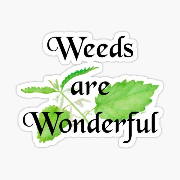 Weeds are Wonderful Sticker