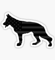 German Shepherd: U.S. Tactical Flag Sticker