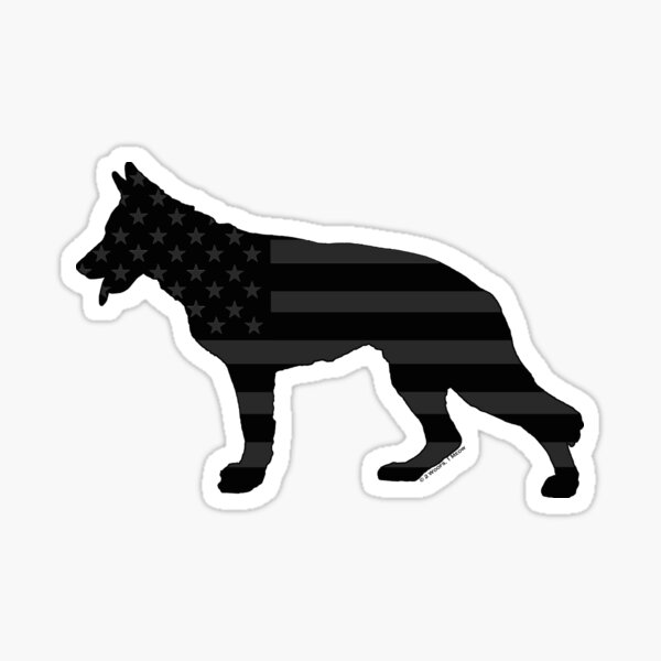 German Shepherd: U.S. Tactical Flag Sticker