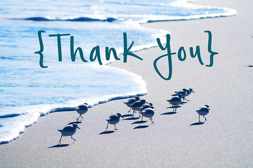 Beach Thank You Card by Amy Wojtowicz
