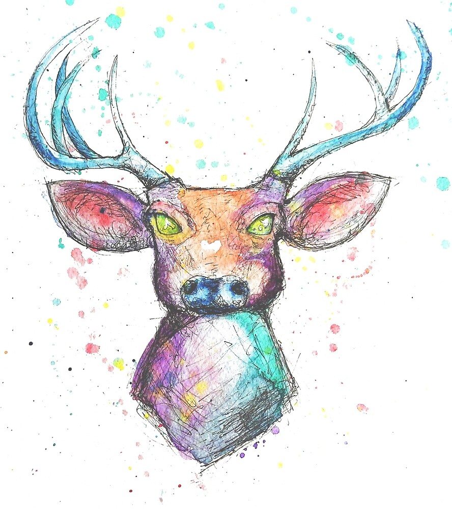 Rainbow Deer by LandryWorks