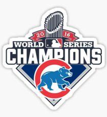 Chicago Cubs 2016 World Series Champions Sticker