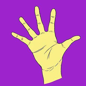 Yellow Alien Hand by cheyenne9229