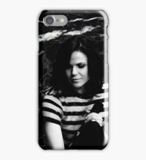 Lana Parrilla - Black and white iPhone Case/Skin