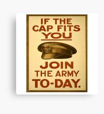 """If the Cap fits"" British WWI Poster Canvas Print"