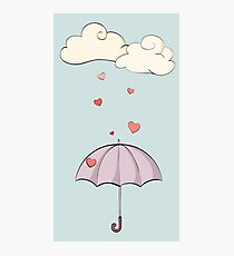 Love is pouring down Photographic Print