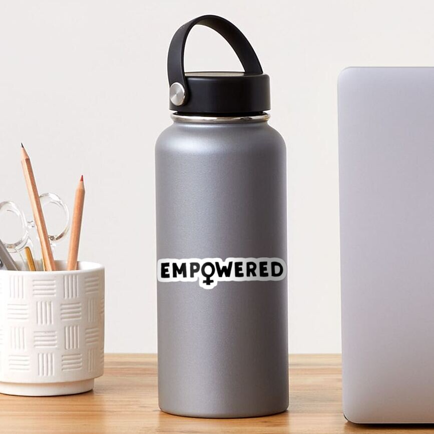 EMPOWERED – black Sticker
