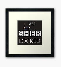 I am SHER-Locked  Framed Print
