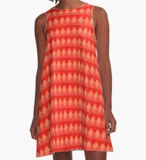 Diamond Orange  A-Line Dress