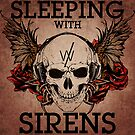 Sleeping With Sirens - Grunge Skull by Explicit Designs