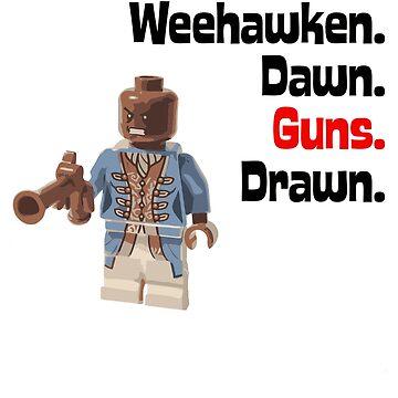 Weehawken Dawn Guns Drawn Brick Figure Graphic by beesfavetees