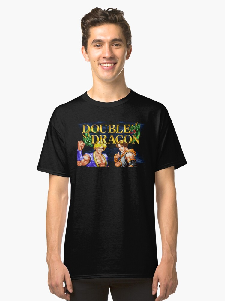 Double Dragon (Neo Geo Title Screen) Classic T-Shirt Front