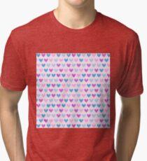 Colorful hearts VII Tri-blend T-Shirt
