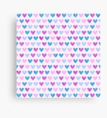 Colorful hearts VII Canvas Print