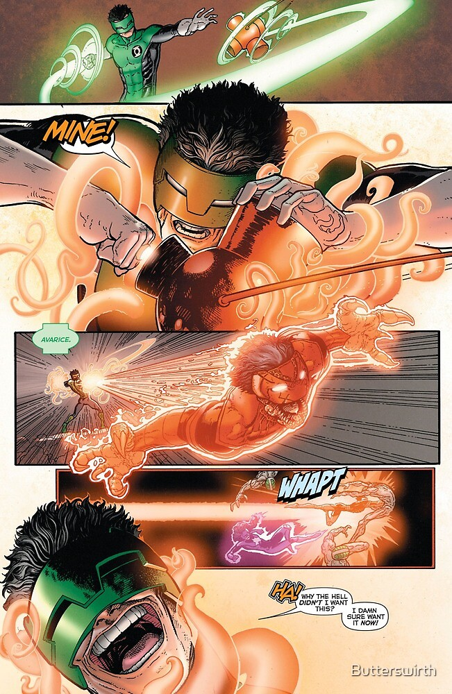 Kyle Rayner Orange Ring by Butterswirth