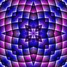Pink Blue And Purple Abstract 01 by Ruth Moratz
