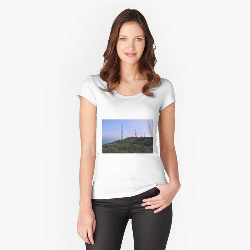 Cabrillo National Monument, San Diego, California Women's Fitted Scoop T-Shirt Front