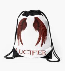 Lucifer red Drawstring Bag