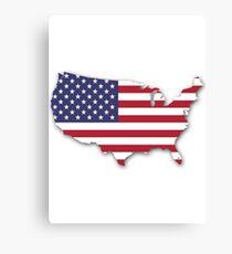 America Map Canvas Print