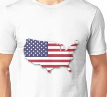 America Map Unisex T-Shirt
