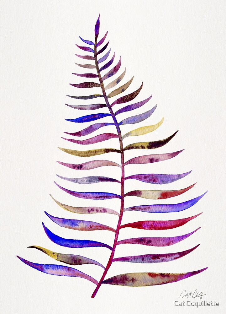 Magenta Palm Leaf by Cat Coquillette