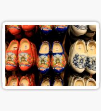 Wooden painted clogs, Holland Sticker