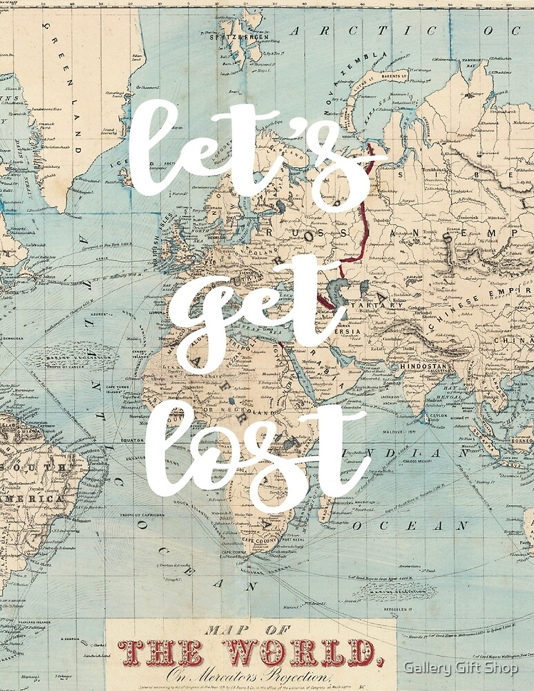 Let's Get Lost Map by paper coat paper co.