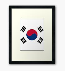 Living Korea Flag Framed Print
