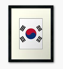 Living Korea Flag Framed Print