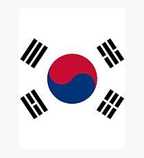 Living Korea Flag Photographic Print