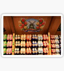 Wooden painted clogs, Holland 2 Sticker