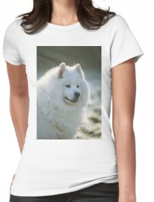 Smiling Samoyed  Womens Fitted T-Shirt