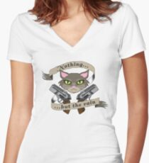 What do you hear, Starbuck? Women's Fitted V-Neck T-Shirt