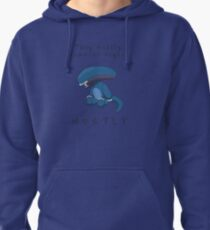 They mostly come at night... Pullover Hoodie