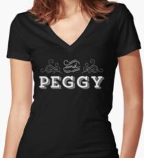 And Peggy Vintage T-Shirt from the Hamilton Broadway Musical - Aaron Burr Alexander Hamilton Gift Women's Fitted V-Neck T-Shirt