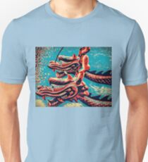 Chinese Dragon Boats - Pop Art Style Unisex T-Shirt