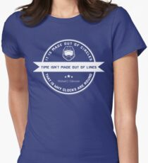 Time, line? Women's Fitted T-Shirt