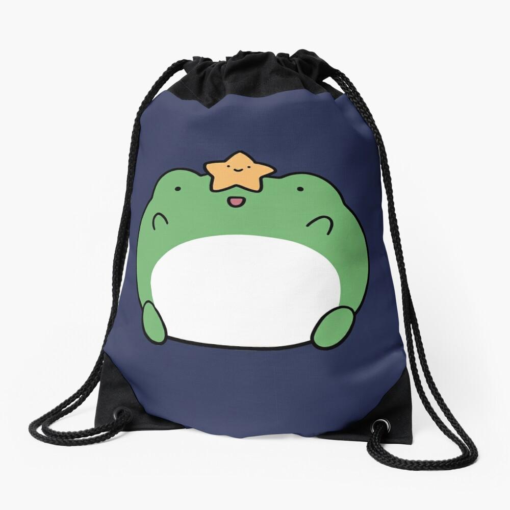 Star Frog Drawstring Bag