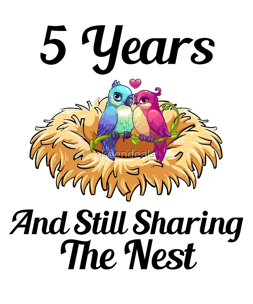 5th Anniversary Gift Still Sharing The Nest Marriage by keendeals