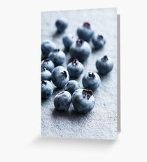 Fresh Blueberries Greeting Card