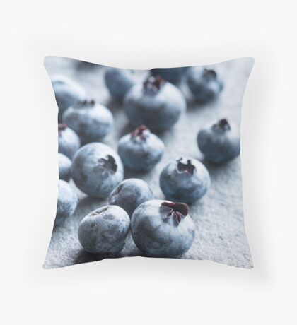 Fresh Blueberries Throw Pillow