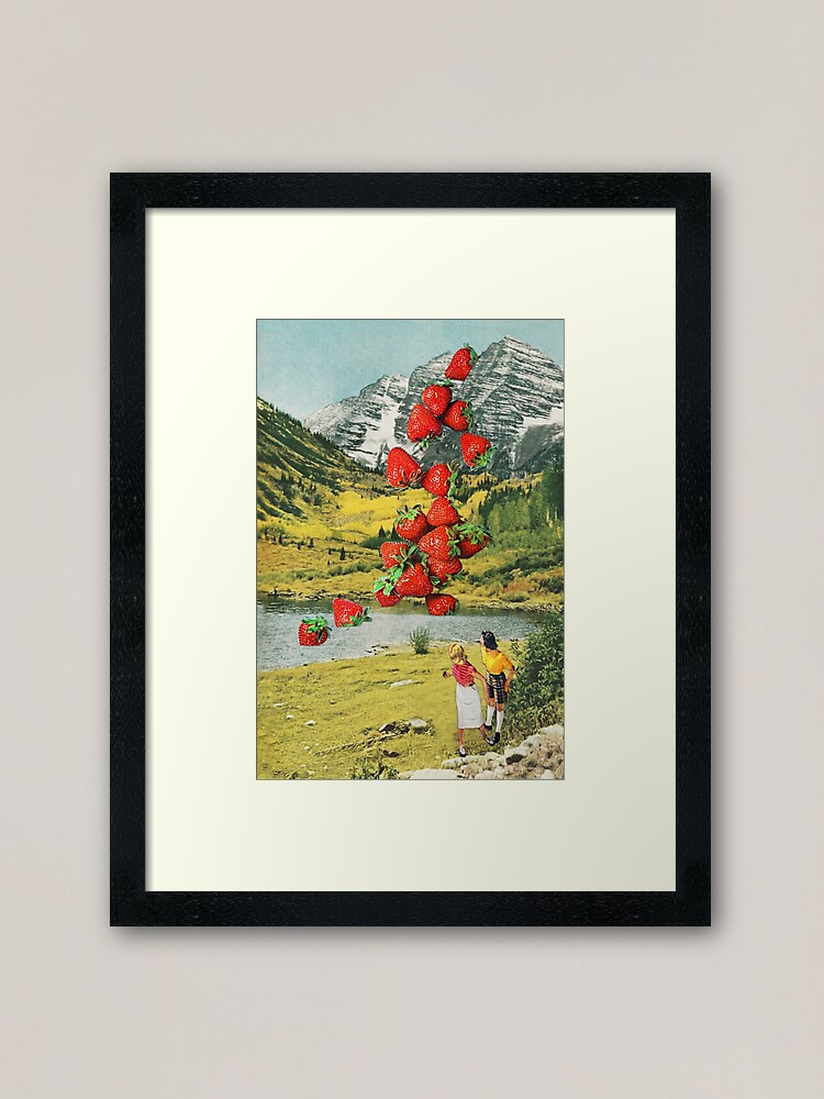 Alternate view of Strawberry Avalanche Framed Art Print