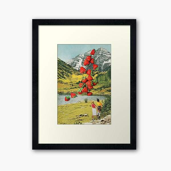 Strawberry Avalanche Framed Art Print